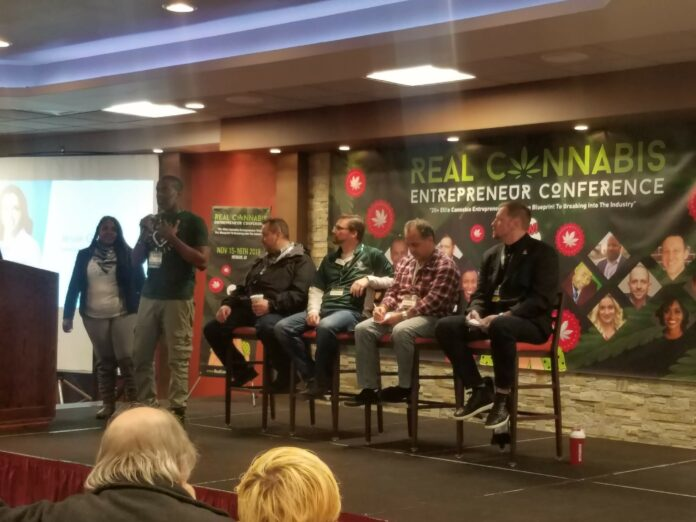 picture of conference with cannabis entrepreneurs